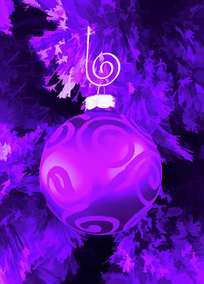 Photograph - Amethyst Christmas Ornament by Aimee L Maher ALM GALLERY