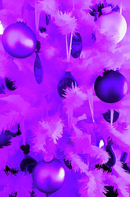 Photograph - Amethyst Christmas Tree Ornaments by Aimee L Maher Photography and Art Visit ALMGallerydotcom