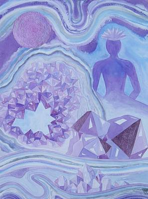 Chakra Painting - Amethyst Crown Chakra by Jennifer Baird