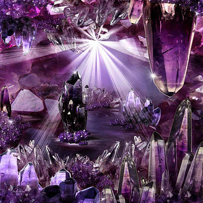 Digital Art - Amethyst Dreams by Artful Oasis