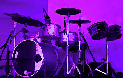 Purple Photograph - Amethyst Drum Set by Aimee L Maher Photography and Art Visit ALMGallerydotcom