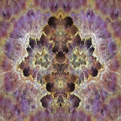Digital Art - Amethyst Geode Wall Art  by OLena Art Brand