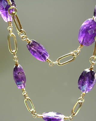 Adove Jewelry - Amethyst Goddess Linked Strand by Adove  Fine Jewelry