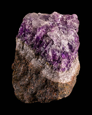 Amethyst Photograph - Amethyst by Jim Hughes