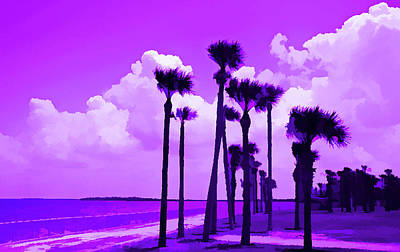 Photograph - Amethyst Palms Blowing by Aimee L Maher Photography and Art Visit ALMGallerydotcom