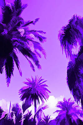 Photograph - Amethyst Palms In The Sky by Aimee L Maher Photography and Art Visit ALMGallerydotcom