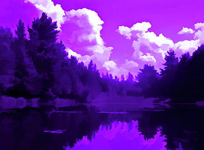 Photograph - Amethyst Pond Reflections by Aimee L Maher ALM GALLERY