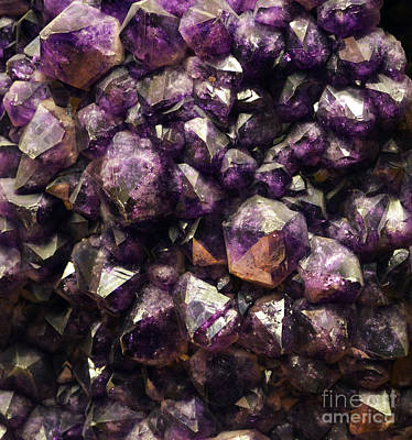 Photograph - Amethyst Purple Gemstone Matrix Macro by Shawn O'Brien