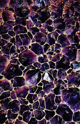 Amethyst Quartz Crystal Smithsonian Art Print