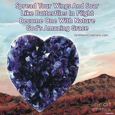 Photograph - Amethyst Sedona Spread Your Wings by Marlene Rose Besso