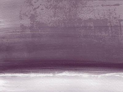 Abstract Landscape Painting - Amethyst Shoreline- Abstract Art By Linda Woods by Linda Woods