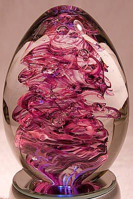 Paper Weight Sculpture - Amethyst Swirl - Free Shipping by David Patterson