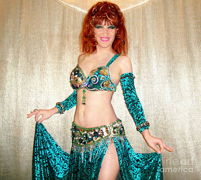 Ameynra Belly Dance Fashion. Emerald 09 Original by Sofia Metal Queen