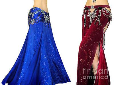 Beadwork Digital Art - Ameynra Belly Dance Fashion - Jeweled Skirts by Sofia Metal Queen