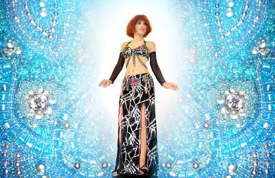 Beadwork Digital Art - Ameynra Belly Dance. Young Sofia by Sofia Metal Queen