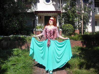 Ameynra Fashion. Aqua-n-pink. Elegance Art Print
