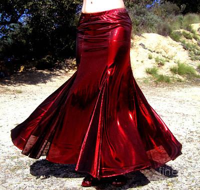 Ameynra Fashion Skirt. Mermaid Dance 02 Art Print