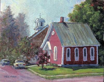 Painting - Amherst Chapel by Ken Fiery