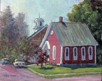 Painting - Amherst Chapel by Ken Fiery