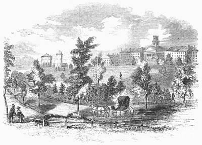Amherst College, 1855 Art Print