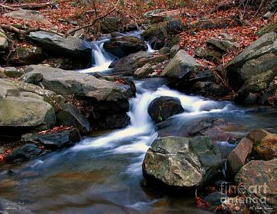 Christmas Patents Rights Managed Images - Amicalola Stream Royalty-Free Image by Robert Meanor