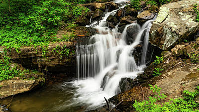 Photograph - Amicalola Waterfalls 1 Dawsonville Georgia by Lawrence S Richardson Jr