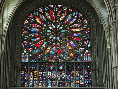 Glass Art - Amiens Cathedral by Alf van Beem
