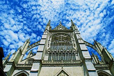 Photograph - Amiens Cathedral by Eric Tressler