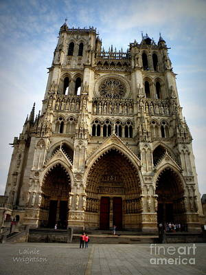 Amiens Cathedral Art Print by Lainie Wrightson