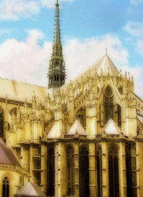 Religious Mixed Media - Amiens Cathedral by Terry Davis