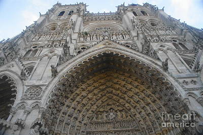 Photograph - Amiens Cathedral by Therese Alcorn