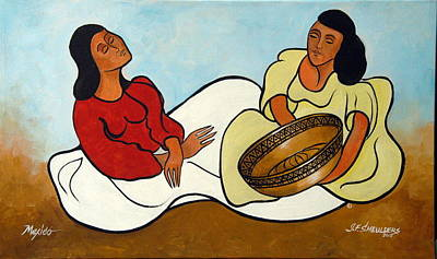 John Smeulders Painting - Amigas by John Smeulders