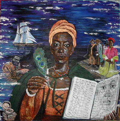 Painting - Aminata's Book Of Negroes by Lee McCormick