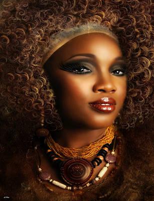 Fine Art Of Women Mixed Media - Aminatu by G Berry