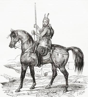Mohammad Drawing - Amir Akbar Khan, 1816 by Vintage Design Pics