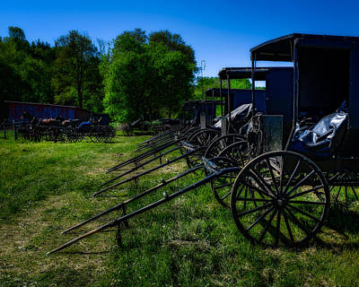 Photograph - Amish Auction Day by Chris Bordeleau