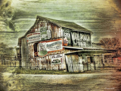Amish Farms Mixed Media - Old Amish Barn by Reese Lewis
