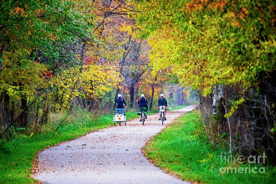 Photograph - Amish Bikers On The Pumpkinvine by David Arment