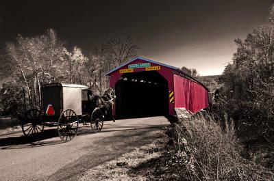 Photograph - Amish Bridge Crossing by Bill Jordan