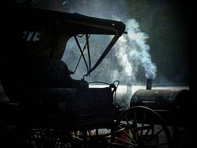 Amish Buggy Photograph - Amish Buggy Cookout by Michael L Kimble