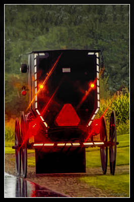 Photograph - Amish Buggy In Rain  by LeeAnn McLaneGoetz McLaneGoetzStudioLLCcom