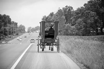 Horse And Cart Photograph - Amish Buggy by Steven Michael