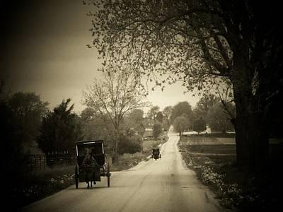 Amish Buggy Photograph - Amish Buggys by Michael L Kimble
