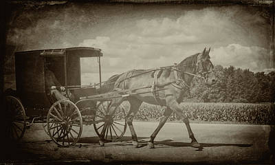 Digital Art - Amish Conveyance by Jim Cook