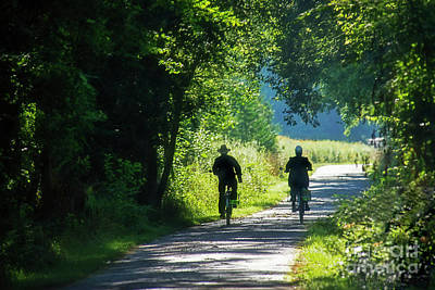 Photograph - Amish Couple On Bicycles by David Arment