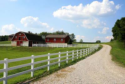 Amish Farm Art Print by Gary Bydlo