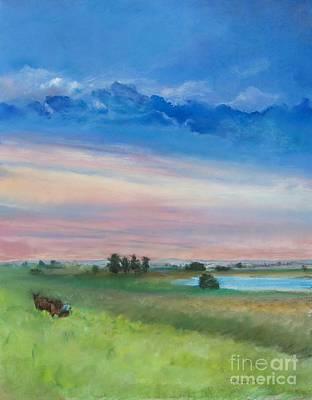 Pastel - Amish Farm  by Robin Maria Pedrero