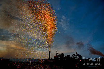 Amish Fireworks Art Print