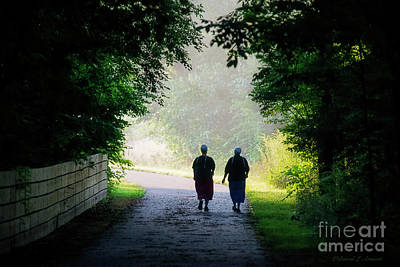 Photograph - Amish Friends Walking by David Arment