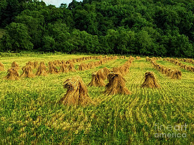 Digital Art - Amish Hay Field by Elijah Knight
